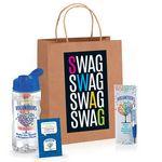 Custom Volunteer Themed SWAG Bag Gift Set W/Bottle, Bookmark, Pen, & Lapel Pin