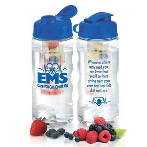 22 Oz. EMS: Care You Can Count On Fruit Infuser Water Bottle