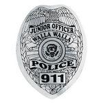 Custom Shield Sticker On-A-Roll (Silver, Personalized)
