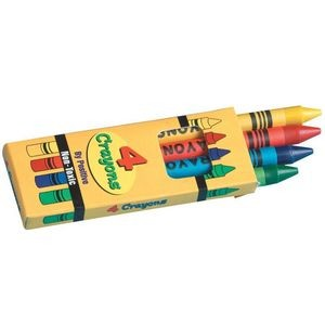 4 Pack Of Non-Toxic Crayons With Crayon Box