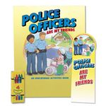 Custom Police Officers Are My Friends Value Kit W/Activity Book, Bookmark, & Crayons