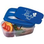 Custom 2-Section Food Container W/Utensils (For All You Do, We Appreciate You!)