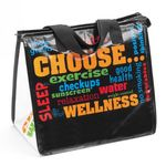Custom Eco-Friendly Laminated Insulated Lunch Bag (Choose Wellness, No Personalization)