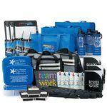 Custom 50-Gift Raffle Pack W/Infuser Bottle, Tote Bag, Cooler, Tumbler, Clipboard, Pen/Highlighter, & More