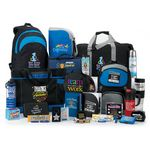 Custom 110-Gift Super Deluxe Raffle Pack W/5 Star Key Tag, S'mores Treat Pack, Sayville Cooler Bag & More