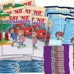 Custom Stranger Danger 250-Piece Value Pack W/Activity Book, Pencil, & Bracelets