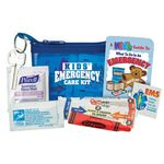 Custom Kids' Emergency Care Kit W/Purse, Brochure, Bandages, Ointment, & Temporary Tattoo(Personalized)