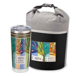 Caring Is Always In Season Bellmore Cooler Lunch Bag & Full-Color Insulated Travel Tumbler Combo