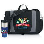 Custom Holbrook Laptop/Tablet Messenger Bag & Hampton Travel Tumbler Gift Set (Committed to Excellence)