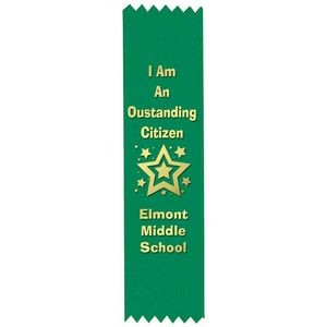 Custom Gold Foil-Stamped Green Satin Ribbon - Personalization Available