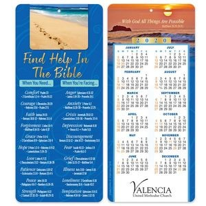 Find Help In The Bible 2-in-1 Bible Marker with 2020 Calendar - Personalization Available