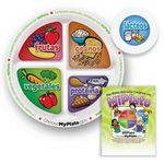 Custom Child's Portion Meal Plate w/ Educational Card (Spanish Version)