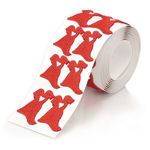 Custom Embroidered Red Dress Sticker Roll