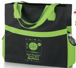 Custom Harbor Non-Woven Eco-Shopper Tote w/ MyPlate Imprint