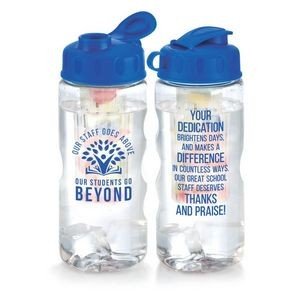 Our Staff Goes Above, Our Students Go Beyond Fruit Infuser Water Bottle 22-oz.