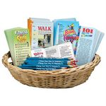 Custom Fitness for Life Value Basket W/Brochures, Bookmarks, & Pencils