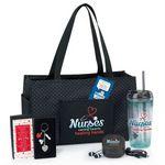 Custom Nurses Gift-A-Day Pack W/Tote Bag, Tumbler, Techie Set, Key Tag, & Lapel Pin
