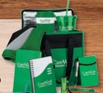 Custom 10-In-1 Gift Set W/Cooler, Coffee Cup, Tumbler, 2 Pens, Flashlight, Notebook, & Journal