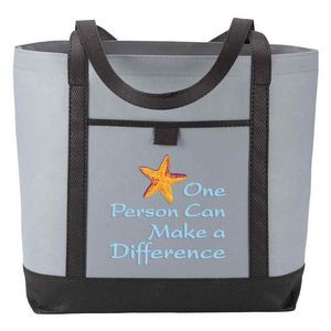One Person Can Make A Difference Gray Greenport Non-Woven Boat Bag