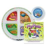Custom Preschool Portion Meal Plate w/ Educational Card (English Version)