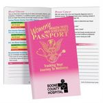 Custom Women's Health Tests and Screenings Passport Pamphlet