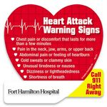 Custom Heart Attack Warning Signs Die-Cut Magnet
