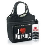 Custom Swirl Lunch Bag & Tritan Gripper Water Bottle (I Love Nursing)