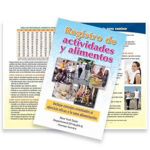 Spanish Language Activity & Food Tracker Journal - Personalization Available