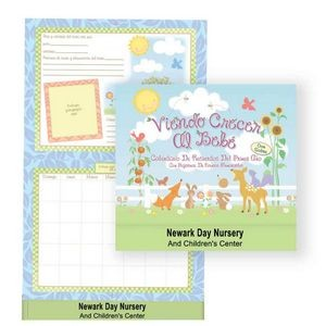 Watching Baby Grow: First Year Keepsake Calendar With Milestone Stickers & Pocket - Spanish Version