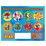 Custom Bike Safety Stars Sticker Sheet