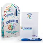 Custom Mini Paper Tote & Stationery Gift Set (Volunteers Make The World A Brighter Place)