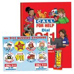 Custom Dial 911 In An Emergency Value Kit W/Activity Book, Crayons, & Stickers