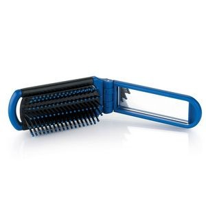 Folding Hairbrush Mirror
