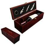Custom Cherry Wine Box with Wine Pourer & Stopper