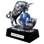 Custom Bull and Bear w/ Crystal Globe Award