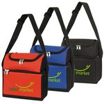 Custom Dain 2-In-1 Polyester Lunch Bag and 6 Can Cooler