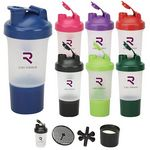 Custom 17 oz. 4PC PROTEIN PLASTIC SHAKER