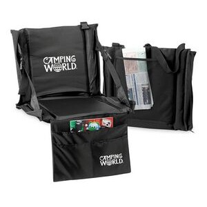 Deluxe Stadium Cushion Chair W/ Organizer