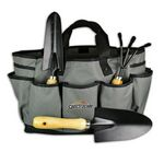 Custom 4 PC Large Gardening Tool Set With Tote Bag