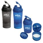 Custom 17 oz. FITNESS SHAKER CUP WITH COMPARTMENT