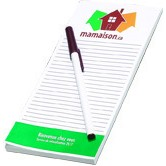 "100 Sheet Notepad and Pen Combo - 1 Color (3 3/4""x8"")"
