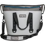 Custom YETI Hopper TWO 40- Fog Gray/ Tahoe Blue