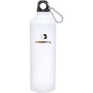 24 Oz. H2go Aluminum Classic Bottle (White)