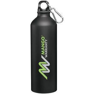 24 Oz. H2go Aluminum Classic Bottle (Matte Black)