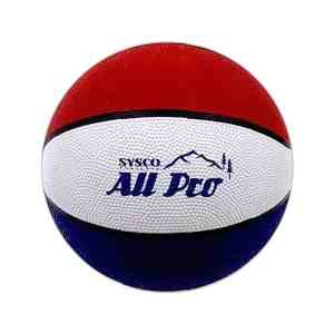"Red/White/Blue Official Size Rubber Basketball (29.5"")"