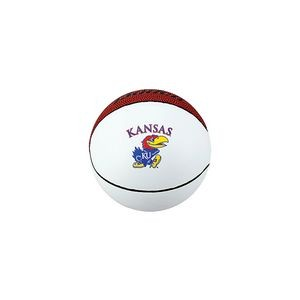"Mini White & Brown Autograph Basketball (5"" diameter)"