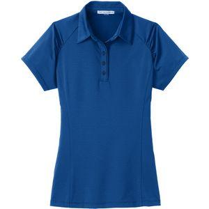 Port Authority Ladies Fine Stripe Performance Polo Shirt