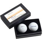 Custom Titleist/Pinnacle Standard 2 Ball Business Card Box
