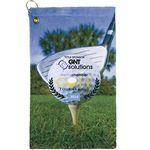 Custom Terry Town Microfiber Velour Sublimation Golf Towel 11 x 18