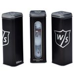 Custom Wilson 3-Ball Tin with 6 Tees and 2 Ball Markers